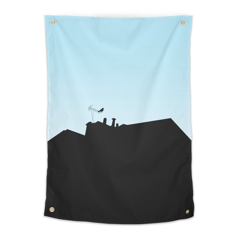 Solitary Home Tapestry by I am a graphic designer
