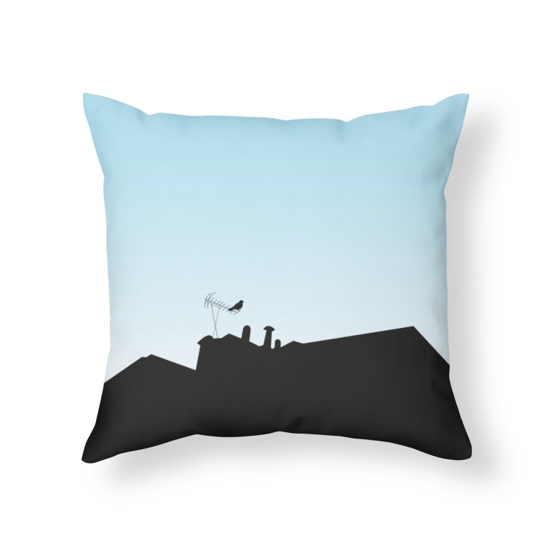 Solitary Home Throw Pillow by I am a graphic designer