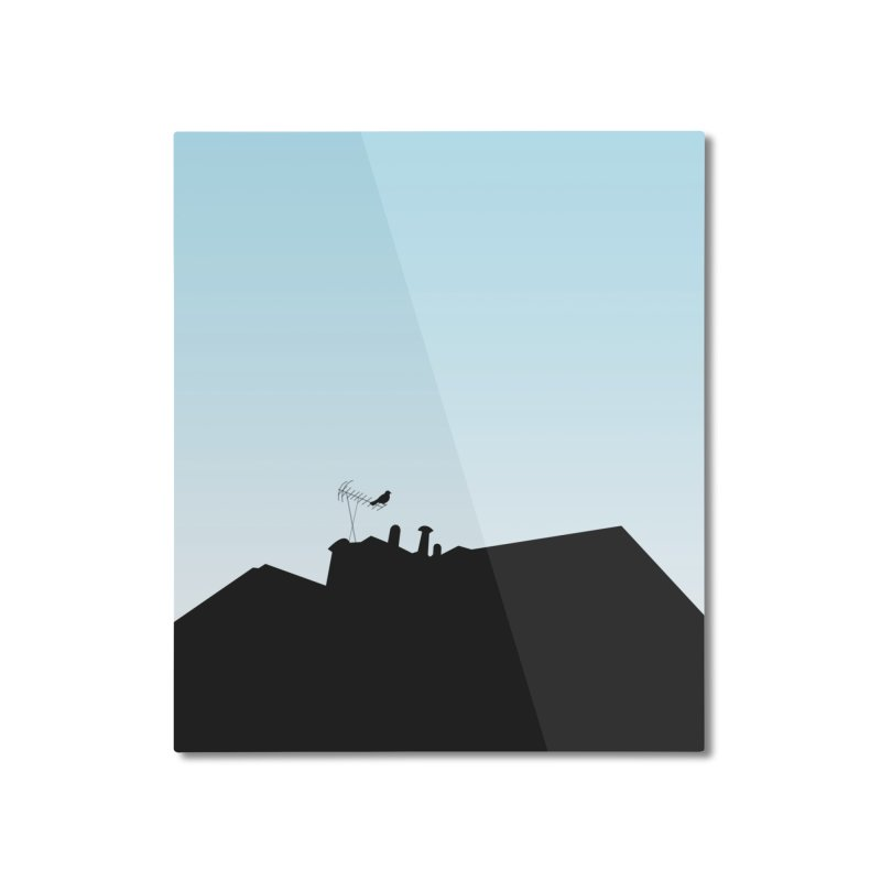 Solitary Home Mounted Aluminum Print by I am a graphic designer