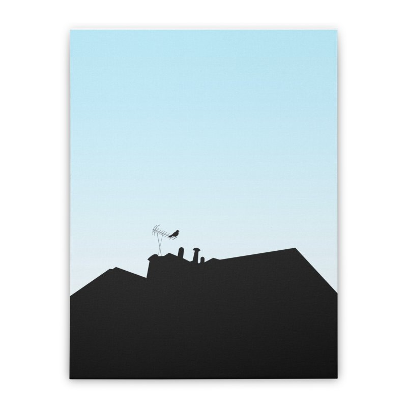 Solitary Home Stretched Canvas by I am a graphic designer