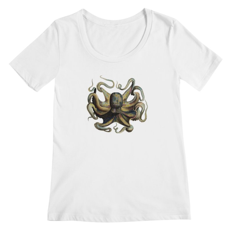 Octopus one Women's Scoopneck by Iacobaeus's Artist Shop
