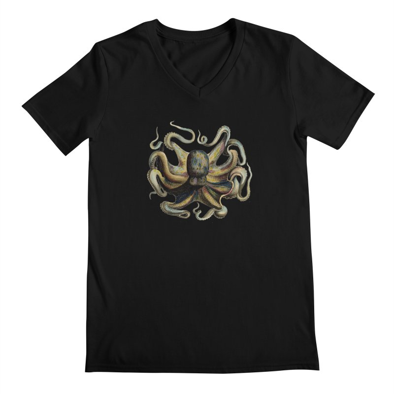 Octopus one Men's V-Neck by Iacobaeus's Artist Shop