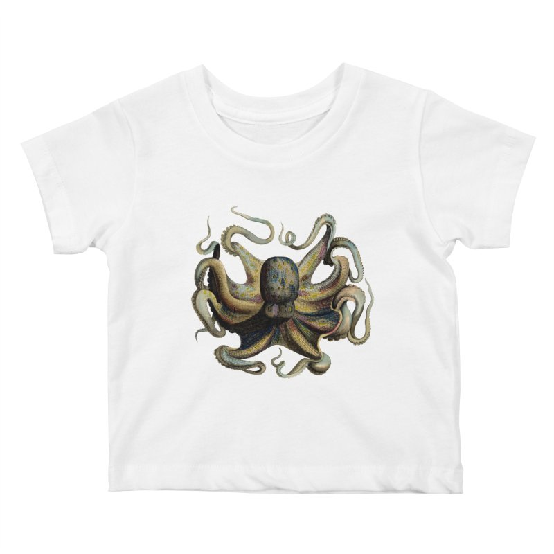 Octopus one Kids Baby T-Shirt by Iacobaeus's Artist Shop