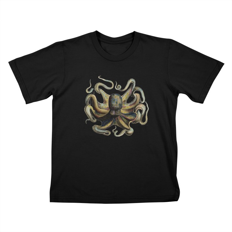 Octopus one Kids T-Shirt by Iacobaeus's Artist Shop