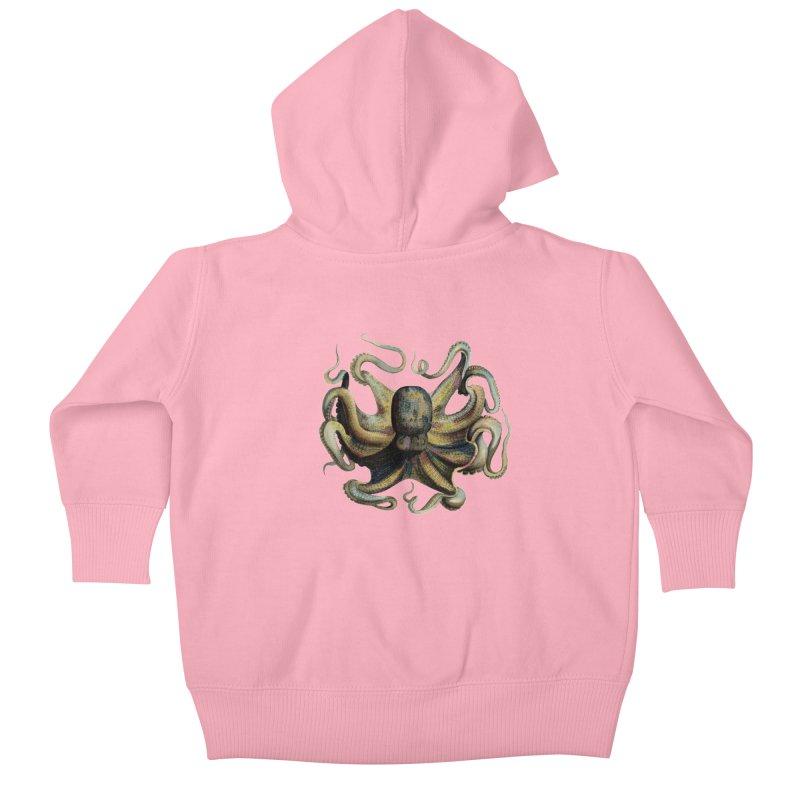 Octopus one Kids Baby Zip-Up Hoody by Iacobaeus's Artist Shop