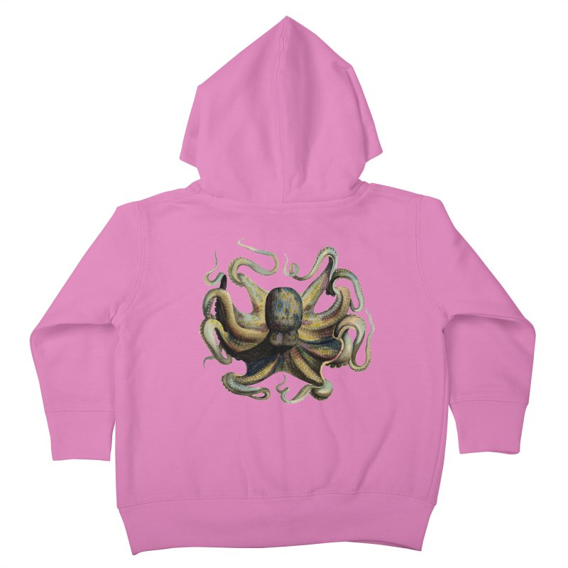 Octopus one Kids Toddler Zip-Up Hoody by Iacobaeus's Artist Shop