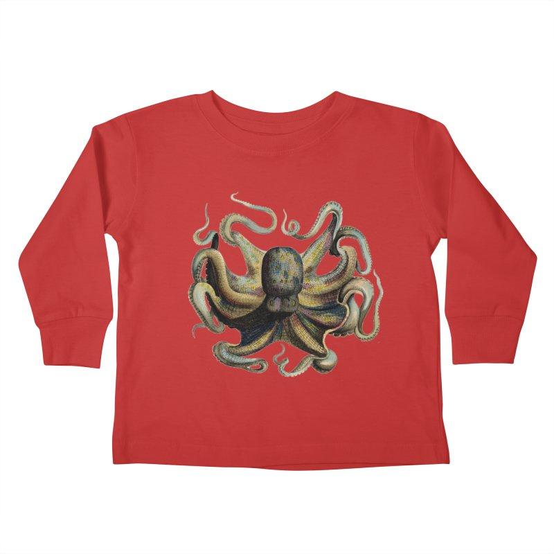 Octopus one Kids Toddler Longsleeve T-Shirt by Iacobaeus's Artist Shop