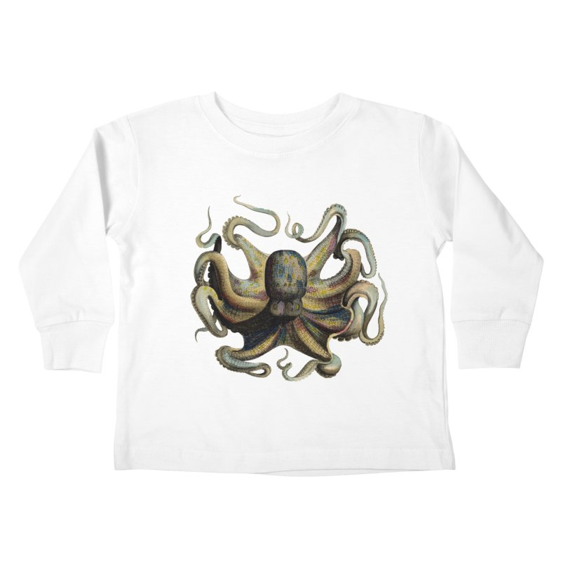 Octopus one Kids Toddler Longsleeve T-Shirt by Iacobaeus's Artist Shop