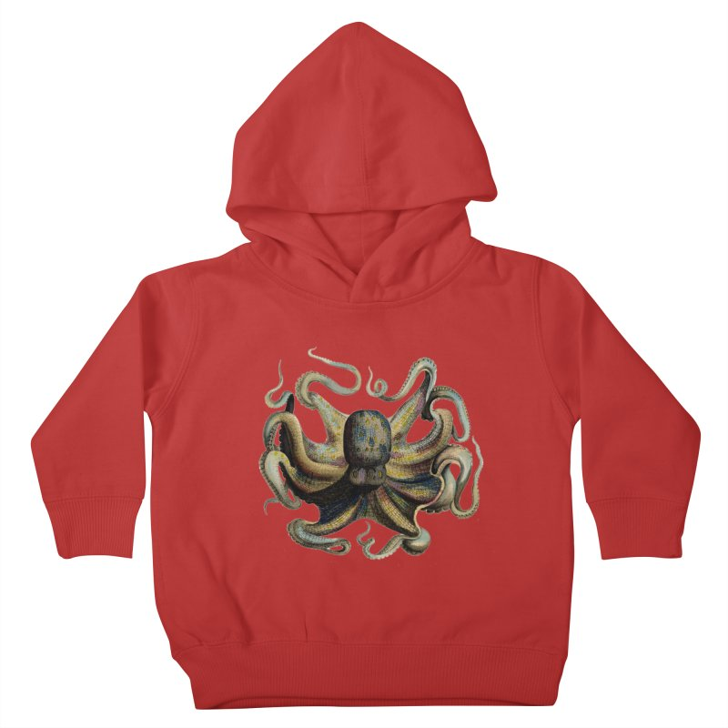 Octopus one Kids Toddler Pullover Hoody by Iacobaeus's Artist Shop