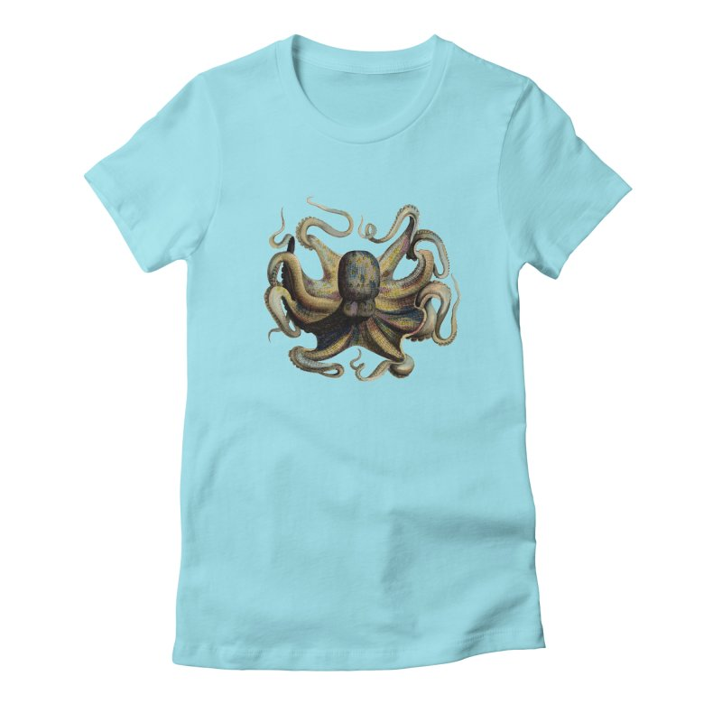 Octopus one Women's Fitted T-Shirt by Iacobaeus's Artist Shop