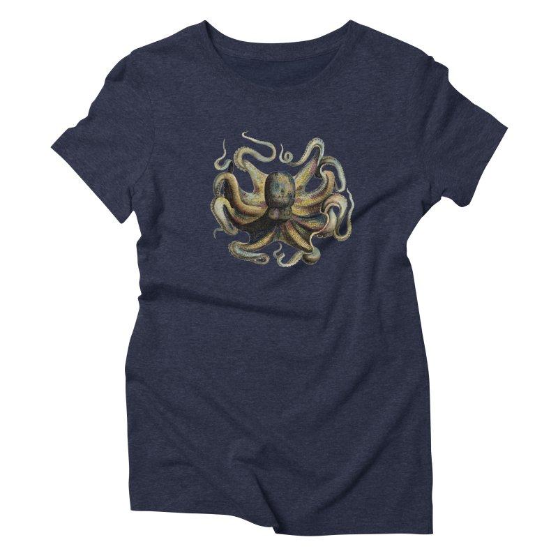 Octopus one Women's Triblend T-Shirt by Iacobaeus's Artist Shop