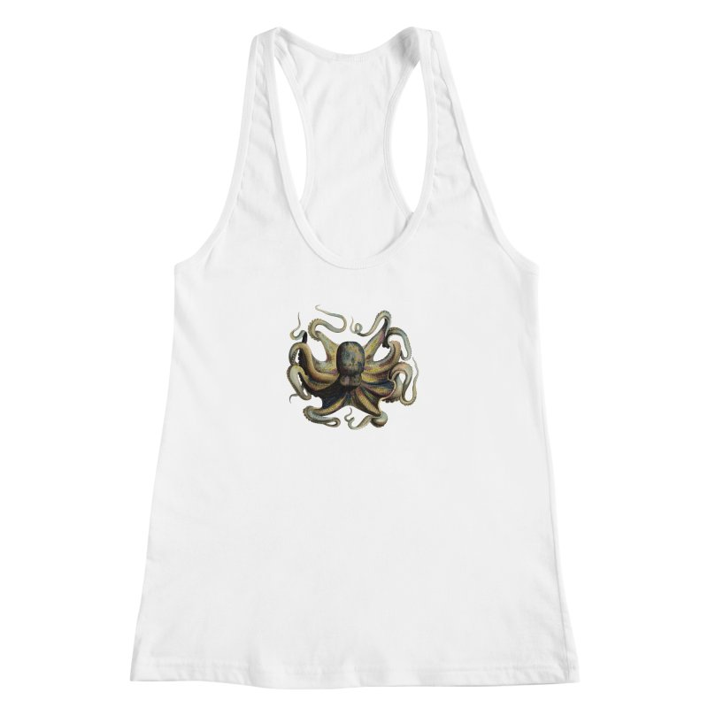 Octopus one Women's Racerback Tank by Iacobaeus's Artist Shop