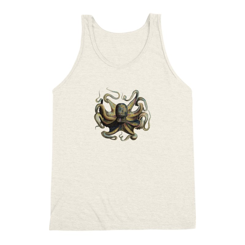Octopus one Men's Triblend Tank by Iacobaeus's Artist Shop