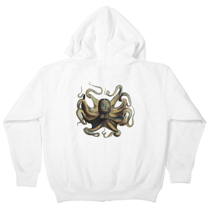 Octopus one Kids Zip-Up Hoody by Iacobaeus's Artist Shop