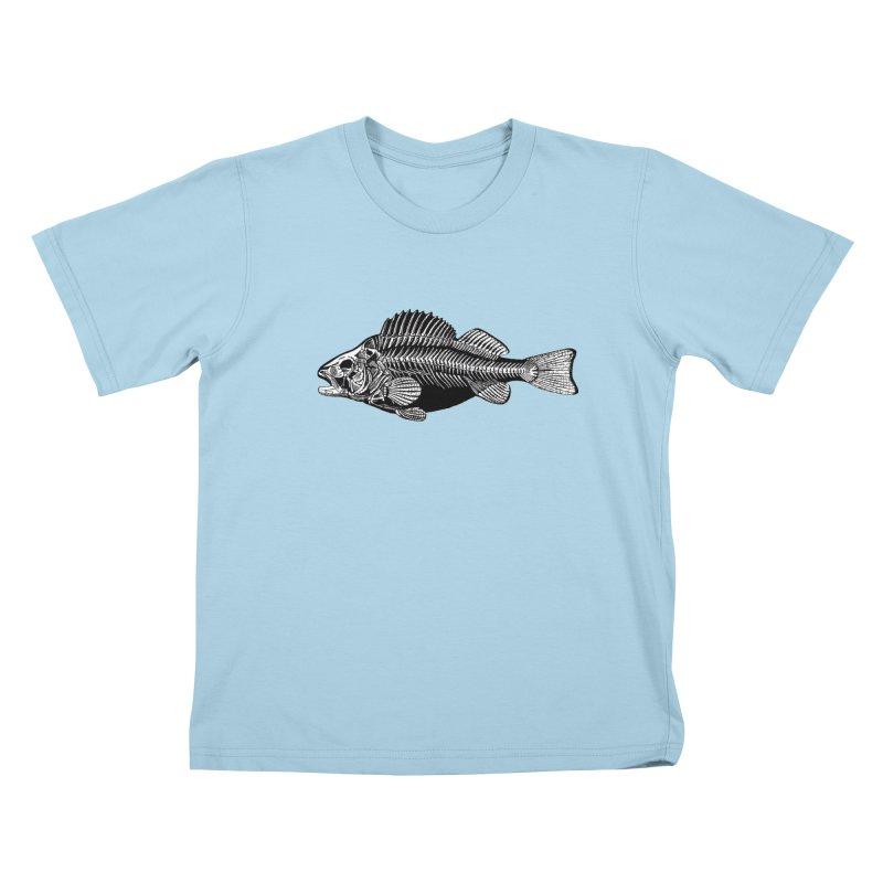 Fish. Dead fish. Kids T-Shirt by Iacobaeus's Artist Shop