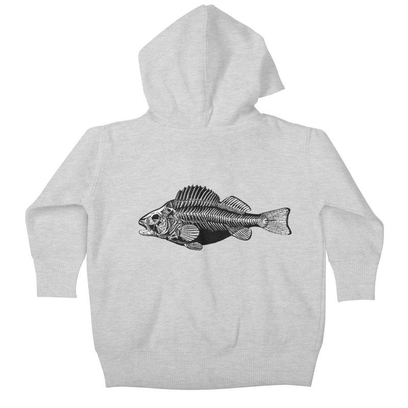 Fish. Dead fish. Kids Baby Zip-Up Hoody by Iacobaeus's Artist Shop
