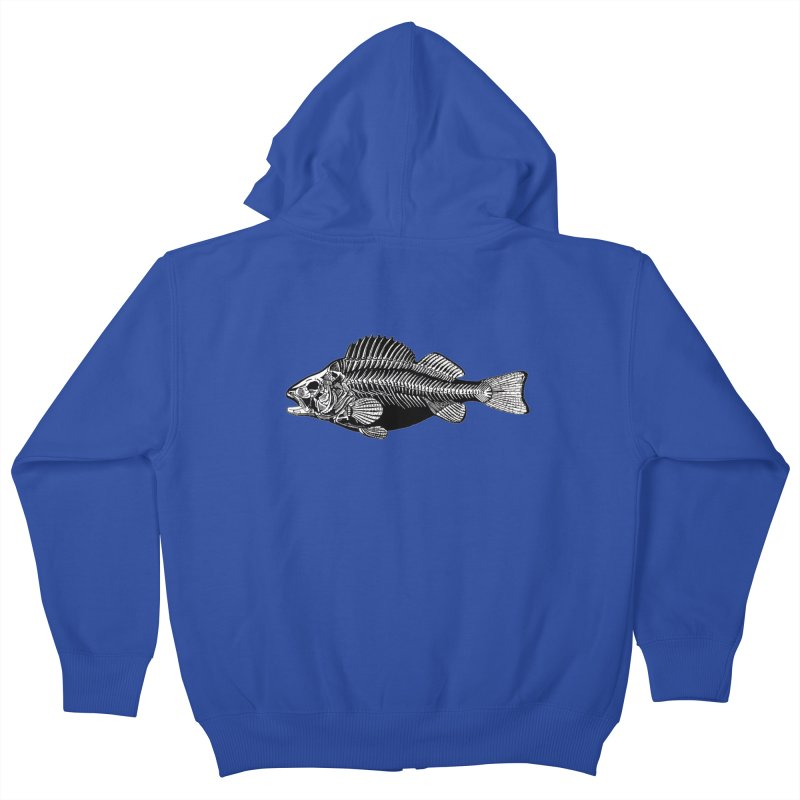Fish. Dead fish. Kids Zip-Up Hoody by Iacobaeus's Artist Shop
