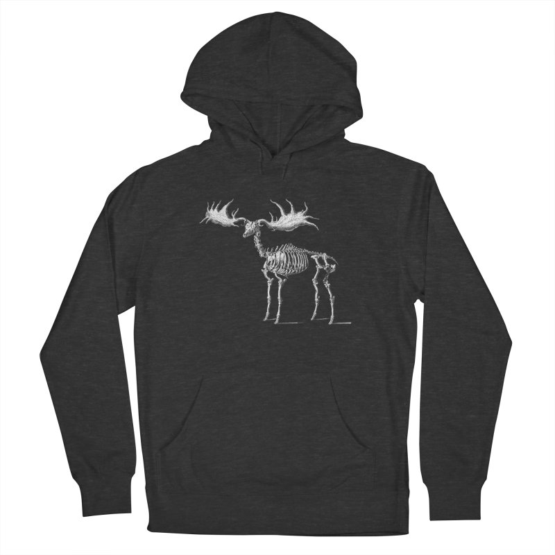 Elk skeleton Men's Pullover Hoody by Iacobaeus's Artist Shop