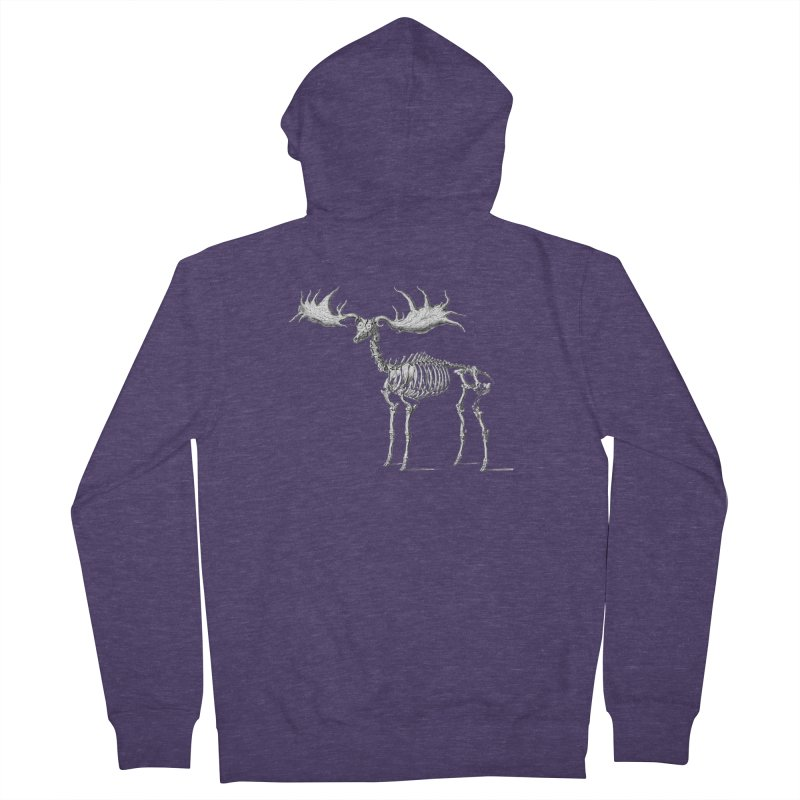 Elk skeleton Men's Zip-Up Hoody by Iacobaeus's Artist Shop