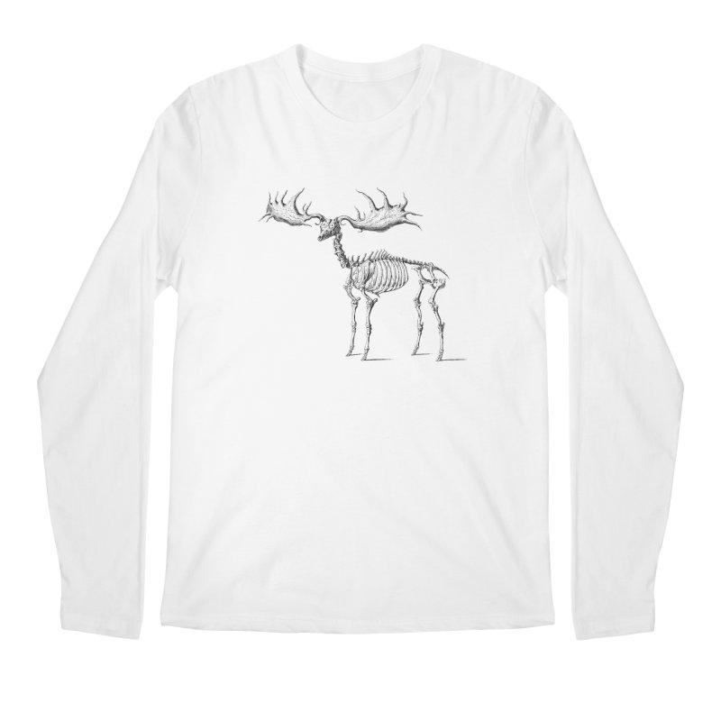 Elk skeleton Men's Longsleeve T-Shirt by Iacobaeus's Artist Shop