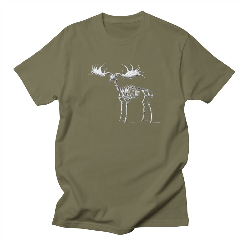 Elk skeleton Men's T-Shirt by Iacobaeus's Artist Shop