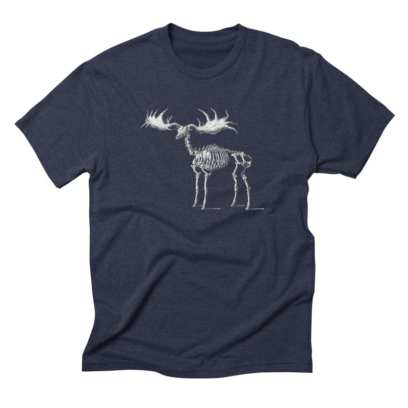 Elk skeleton Men's Triblend T-shirt by Iacobaeus's Artist Shop
