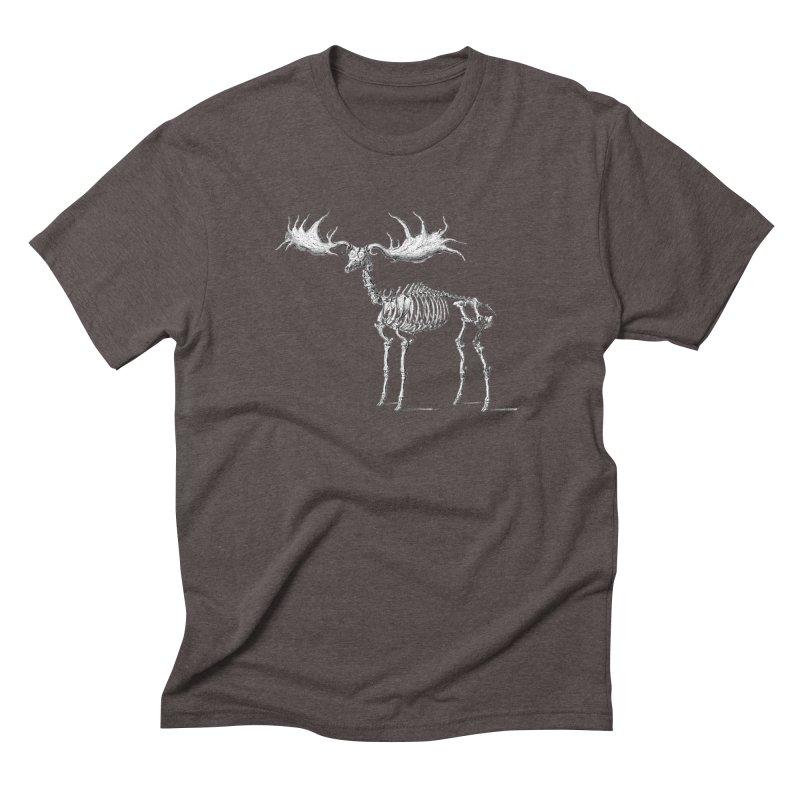 Elk skeleton Men's Triblend T-Shirt by Iacobaeus's Artist Shop