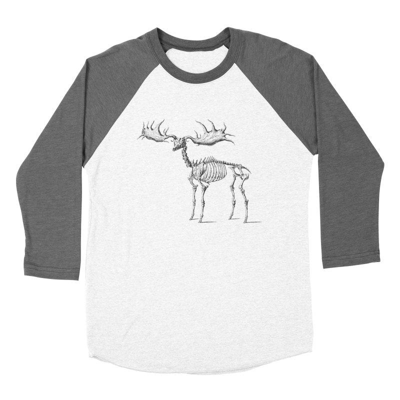 Elk skeleton Men's Baseball Triblend T-Shirt by Iacobaeus's Artist Shop