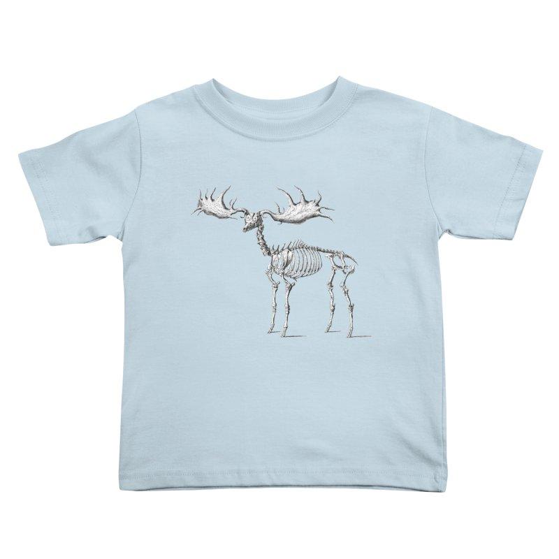 Elk skeleton Kids Toddler T-Shirt by Iacobaeus's Artist Shop