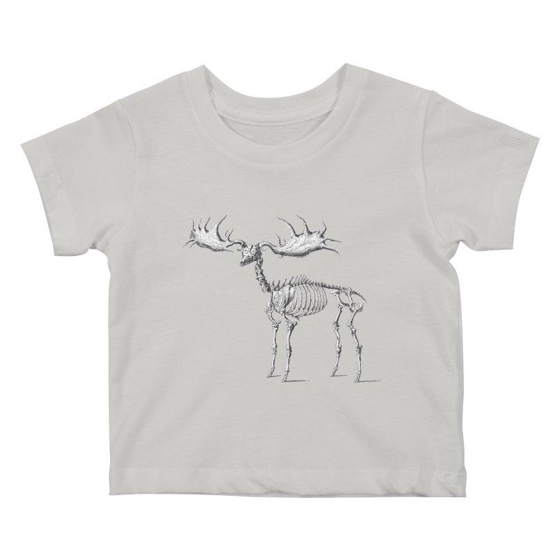 Elk skeleton Kids Baby T-Shirt by Iacobaeus's Artist Shop