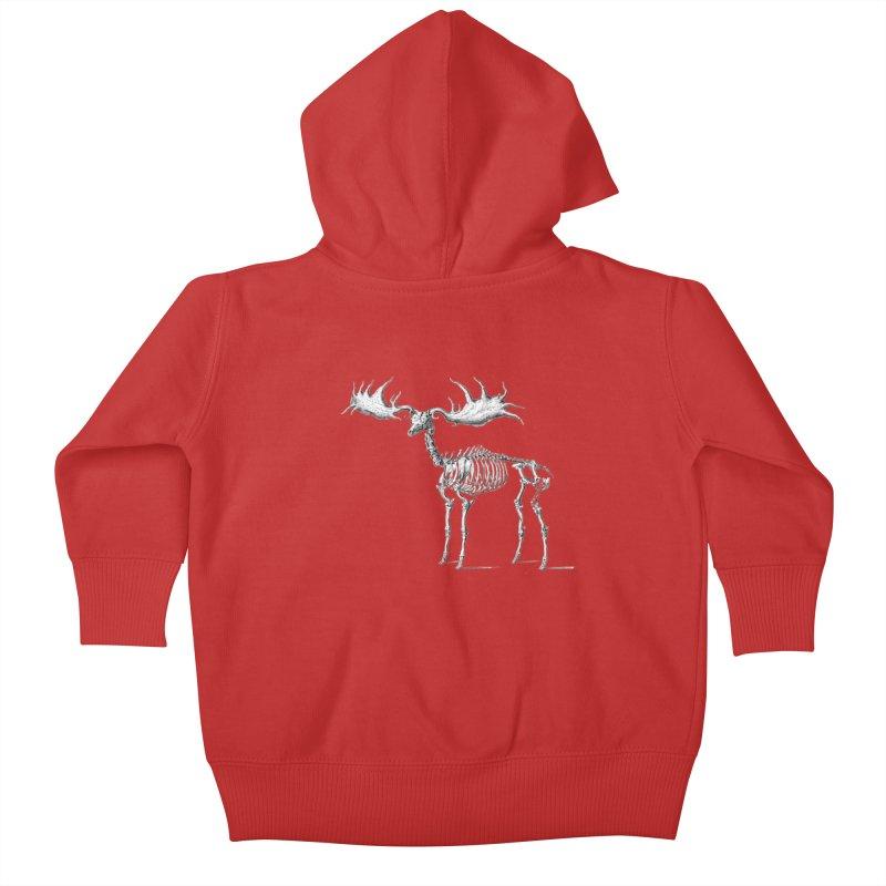 Elk skeleton Kids Baby Zip-Up Hoody by Iacobaeus's Artist Shop