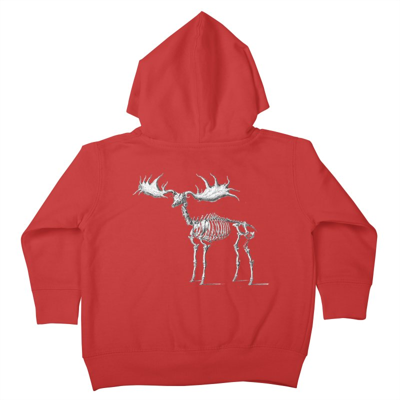 Elk skeleton Kids Toddler Zip-Up Hoody by Iacobaeus's Artist Shop