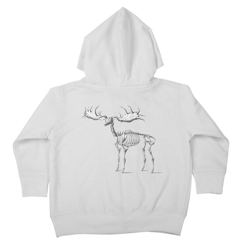 Elk skeleton Kids Toddler Zip-Up Hoody by Iacobaeus's Artist Shop