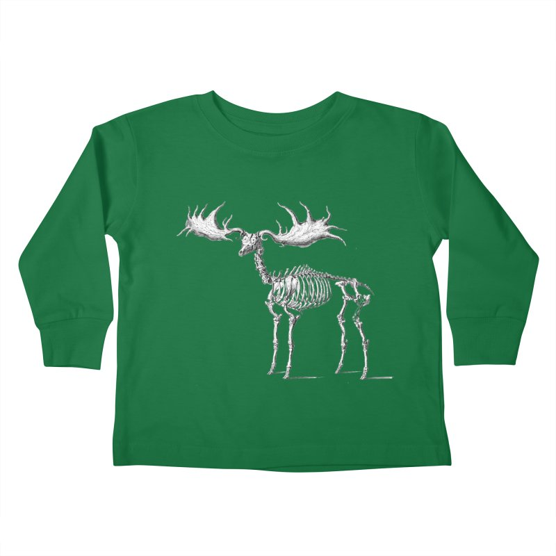 Elk skeleton Kids Toddler Longsleeve T-Shirt by Iacobaeus's Artist Shop