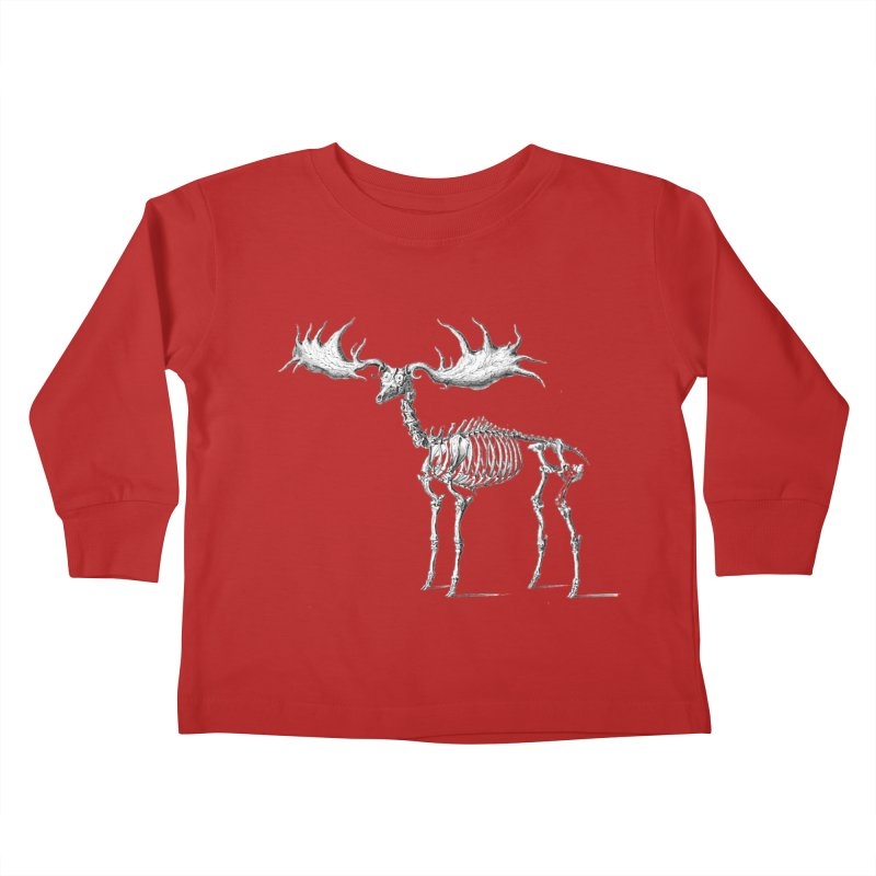 Elk skeleton Kids Toddler Longsleeve T-Shirt by Iacobaeus's Artist Shop