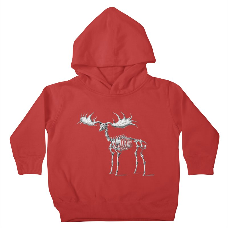 Elk skeleton Kids Toddler Pullover Hoody by Iacobaeus's Artist Shop