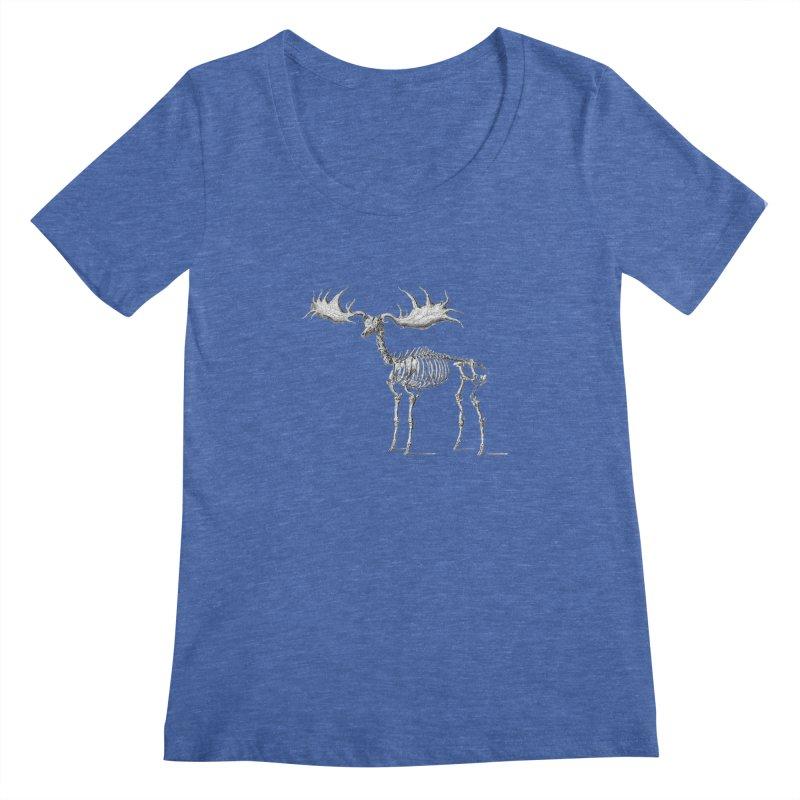 Elk skeleton Women's Scoopneck by Iacobaeus's Artist Shop