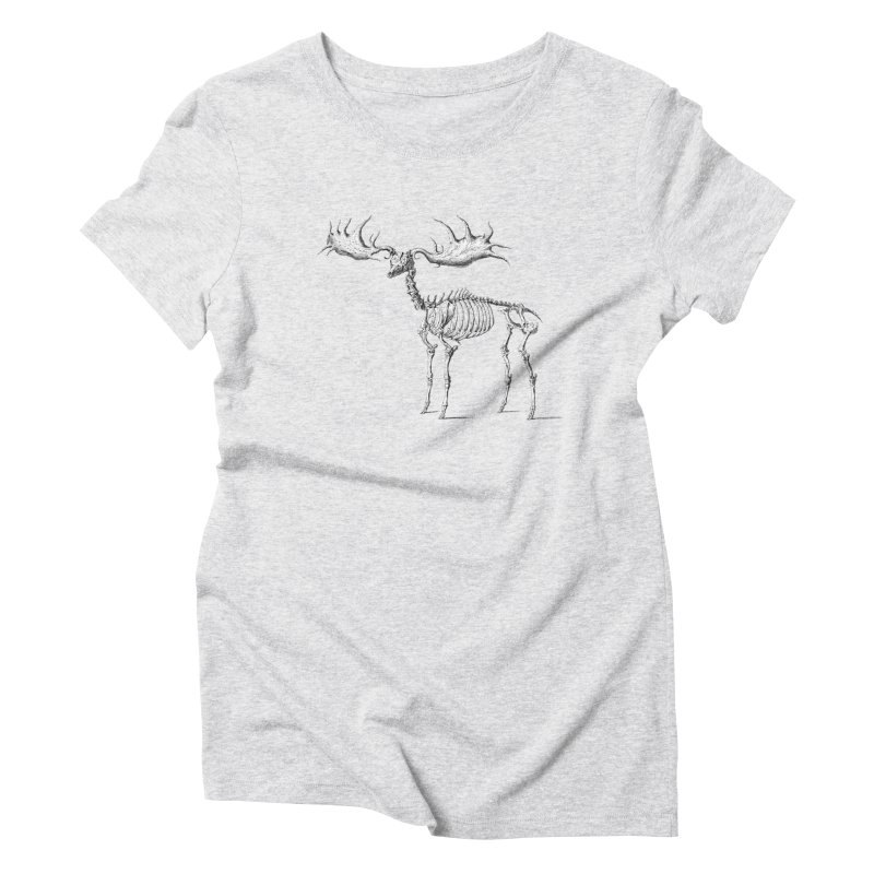 Elk skeleton Women's Triblend T-Shirt by Iacobaeus's Artist Shop