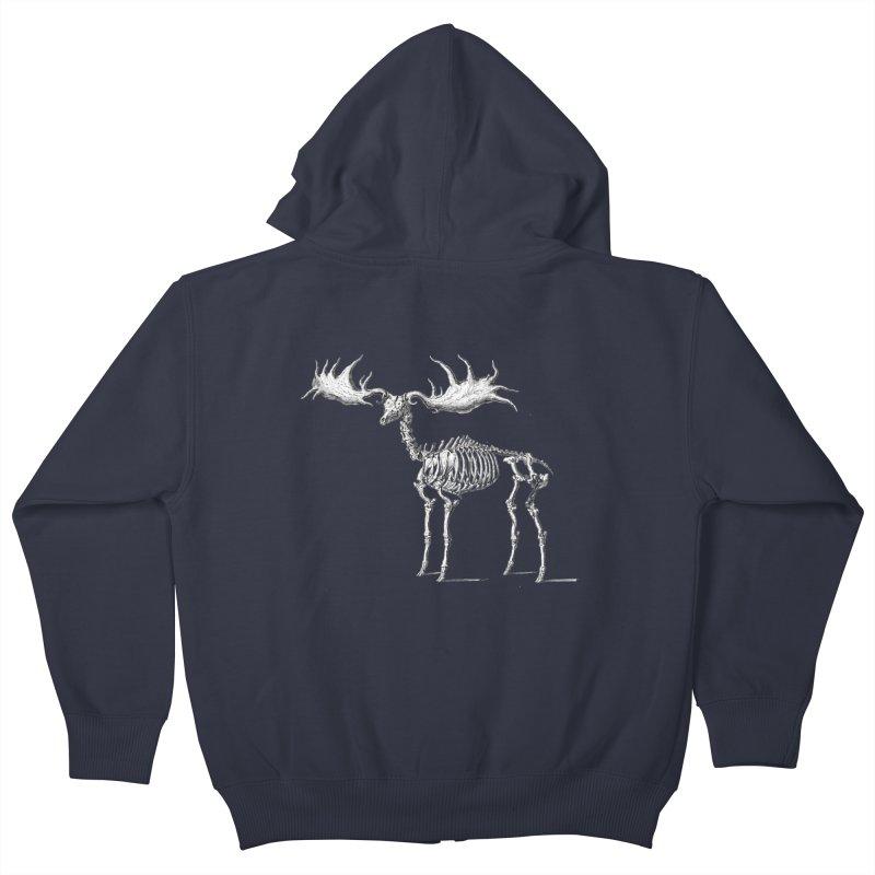 Elk skeleton Kids Zip-Up Hoody by Iacobaeus's Artist Shop