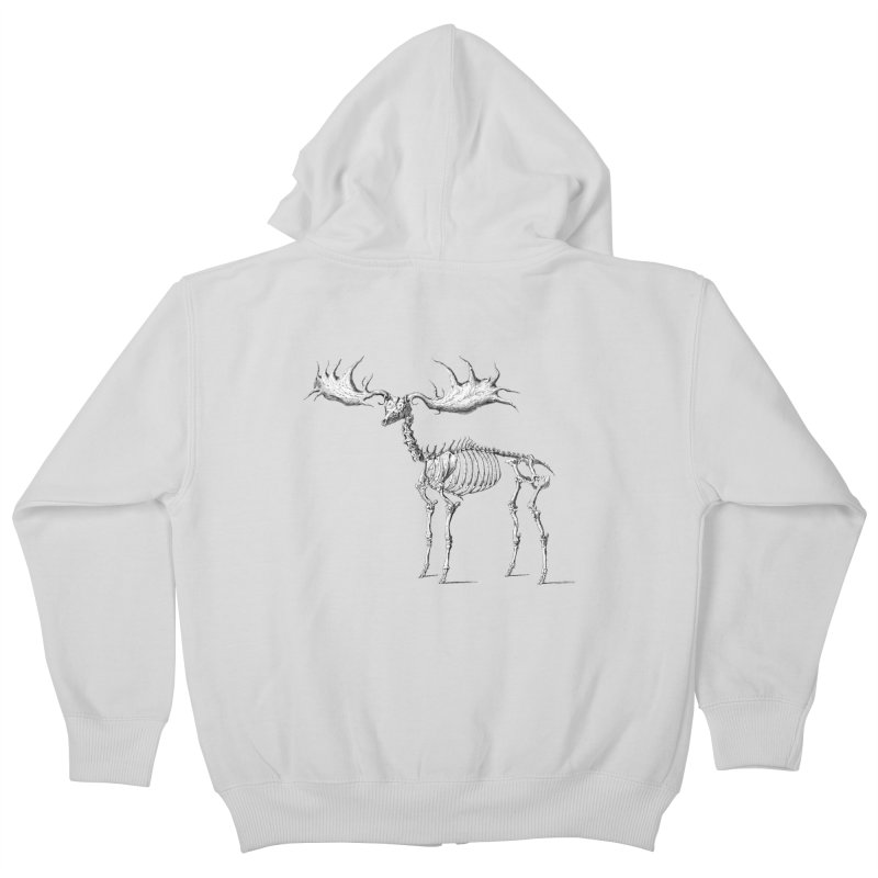 Elk skeleton Kids Zip-Up Hoody by Iacobaeus's Artist Shop
