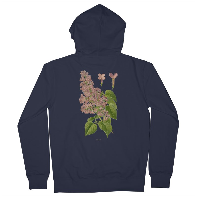 Lilac Men's Zip-Up Hoody by Iacobaeus's Artist Shop