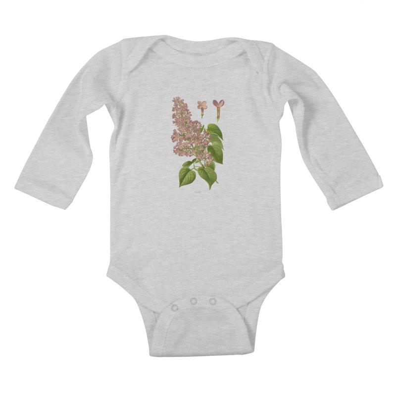 Lilac Kids Baby Longsleeve Bodysuit by Iacobaeus's Artist Shop
