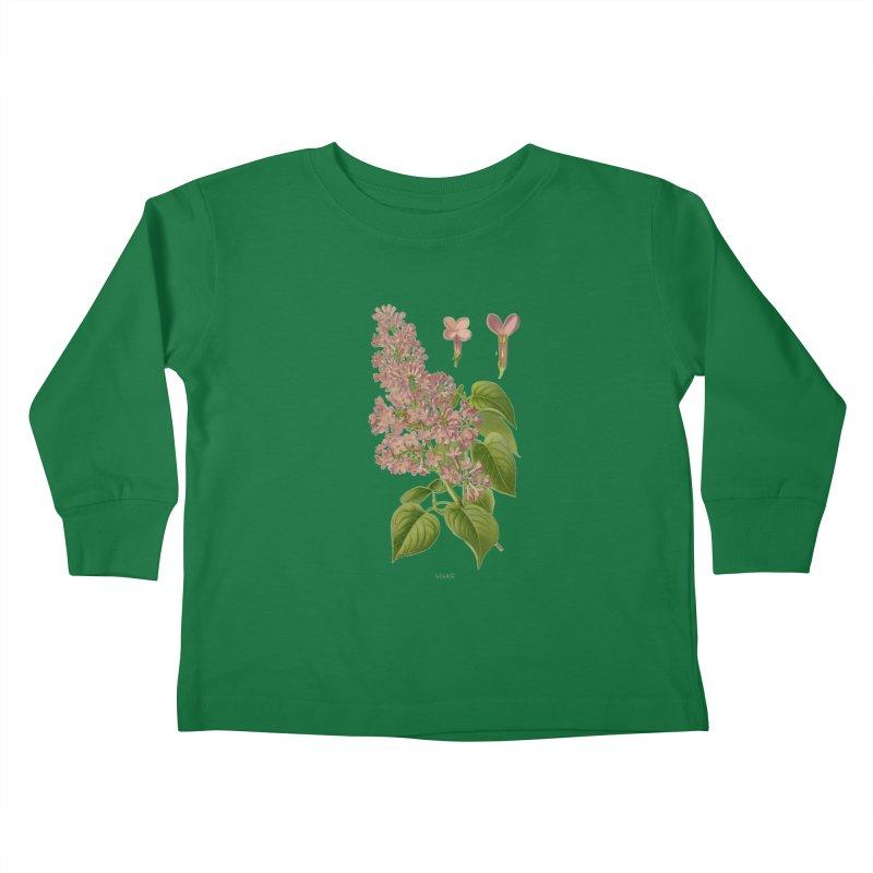 Lilac Kids Toddler Longsleeve T-Shirt by Iacobaeus's Artist Shop