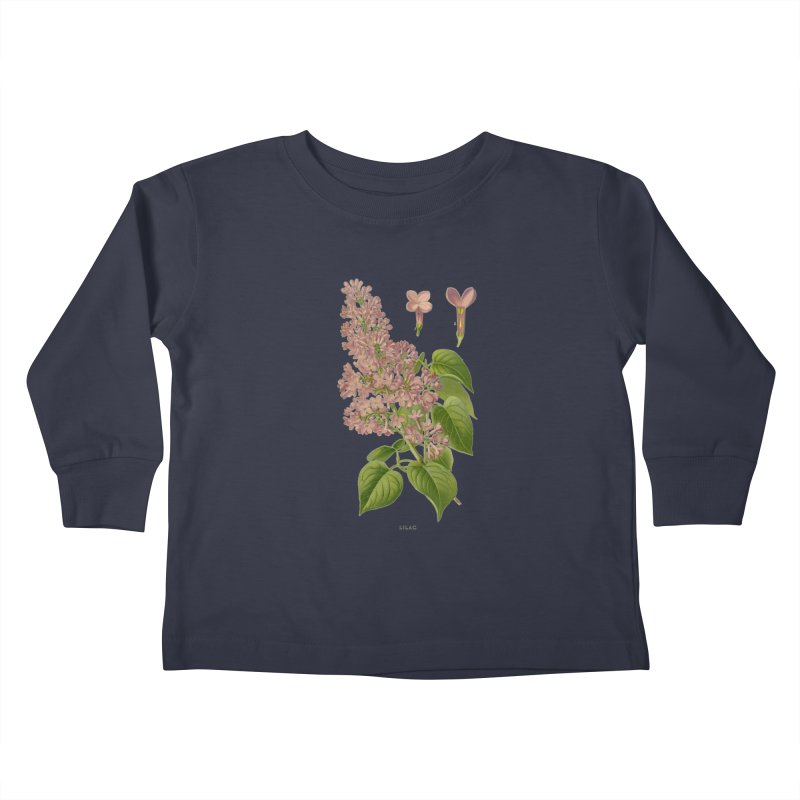 Lilac Kids Toddler Longsleeve T-Shirt by Iacobaeus's Artist Shop