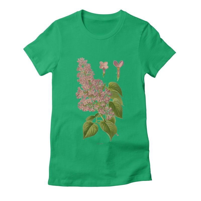 Lilac Women's Fitted T-Shirt by Iacobaeus's Artist Shop