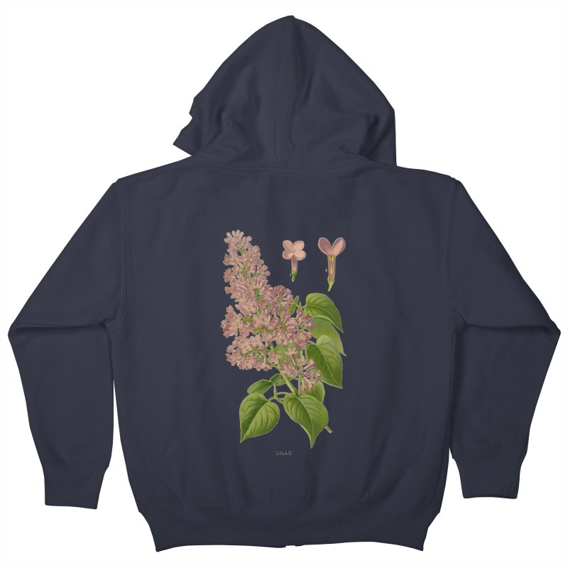 Lilac Kids Zip-Up Hoody by Iacobaeus's Artist Shop