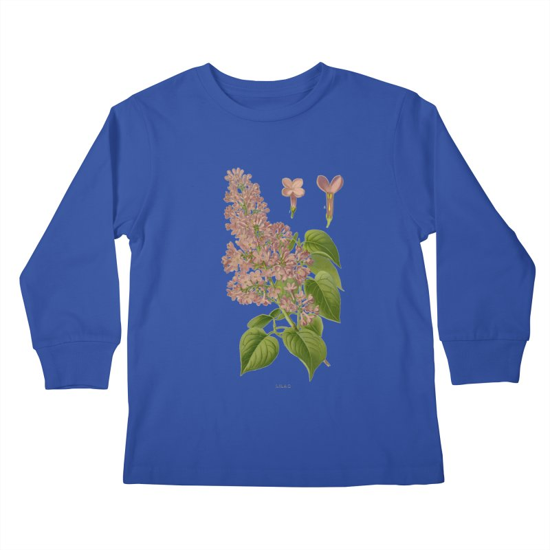 Lilac Kids Longsleeve T-Shirt by Iacobaeus's Artist Shop