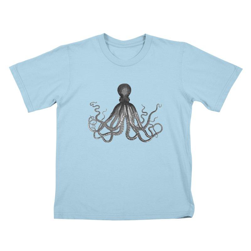 Octopus Two Kids T-Shirt by Iacobaeus's Artist Shop