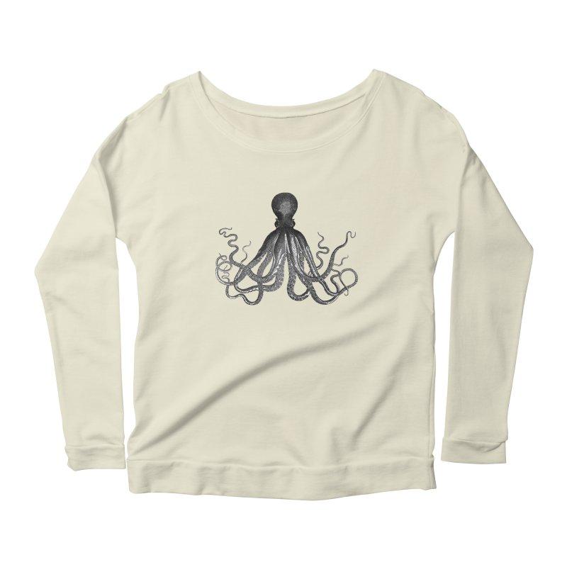 Octopus Two Women's Longsleeve Scoopneck  by Iacobaeus's Artist Shop
