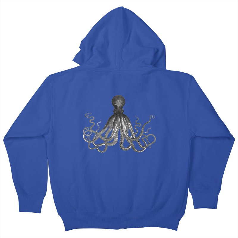 Octopus Two Kids Zip-Up Hoody by Iacobaeus's Artist Shop